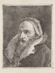 Bearded Old Man with a Cap, from the Raccolta di Teste (Collection of Heads)