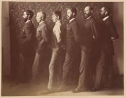 "Group Portrait of W. C. Fitler, Julian Ashton, Phil May, W. T. Smedley, Frederick B. Schell, ""Hop"" (Livingston Hopkins), from the album [Sydney, Australia]"