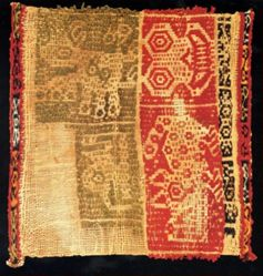 Corner from a Ritual Cloth or Miniature Weaving