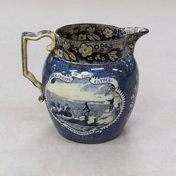 Pitcher with view of Landing of the Fathers at Plymouth