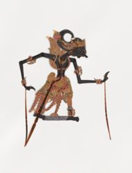 Box 2 of 2 with Shadow Puppets (Wayang Kulit) for consecrated set Kyai Nugroho