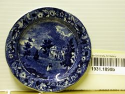 Cup Plate with View of Woodlands, near Philadelphia