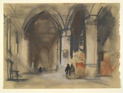 Architectural sketch of Cathedral interior