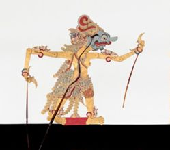 Shadow Puppet (Wayang Kulit) of Batoro Lodro, from the consecrated set Kyai Nugroho