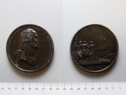 Lead medal, Washington before Boston (restrike)