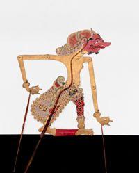 Shadow Puppet (Wayang Kulit) of Sengkuni, from the consecrated set Kyai Nugroho