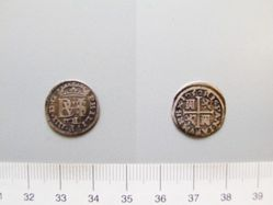 Silver half real of Philip IV from Segovia
