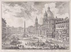 Veduta di Piazza Navona sopra le rovine del Circo Agonale (View of Piazza Navona Above the Ruins of the Circus of Domitian), from Vedute di Roma (Views of Rome)