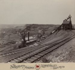 Knickerbocker Colliery near Shenandoah, Lehigh Valley Railroad