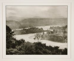 Valley of the Rhine with the Island Nonnenwerth, from the portfolio Rhineland Landscapes by August Sander