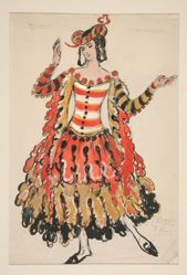 Costume sketch for Raymonda, Dances Espagnoles