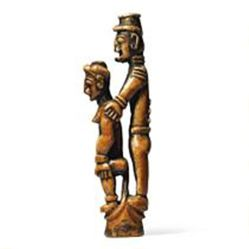 Staff Finial In the Shape of a Male and Female Figure