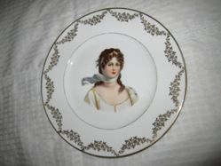 Portrait Plate of Louise of Prussia with Leaf Border