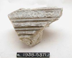 Plaster cornice fragment