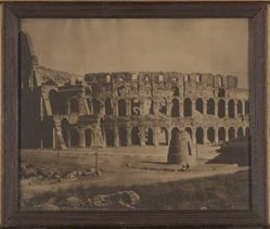 Framed Photogravure of the Coliseum, Rome