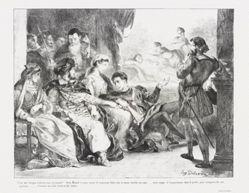 Hamlet fait jouer aux comédiens la scène de l'empoisonnement de son père (Act. III Sc. II) (Hamlet Has the Actors Play the Scene of the Poisoning of His Father), from Shakespeare's Hamlet