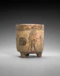 Tripod vessel with ballplayers