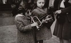 Helen Levitt, Two Girls with Masks and a Trumpet, New York City