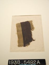 Fragment with purple band