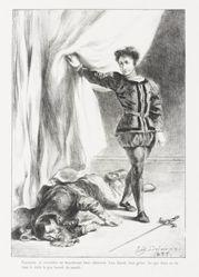 Hamlet et le cadavre de Polonius (Act. III Sc. IV) (Hamlet and Polonius's Corpse), from Shakespeare's Hamlet