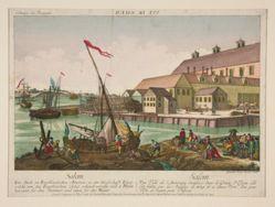 Collection des Prospects - Vue de Salem; Salem, Une Ville de l'Amerique Angloise dans le Comte d'Essex, elle; (Salem. Mass.)