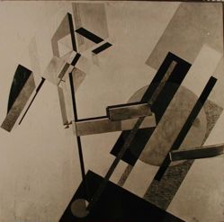 "Photograph of El Lissitzky's ""Proun 19D,"" 1922, oil and collage [MoMA] -- from Katherine S. Dreier's private collection"
