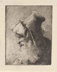 Profile of an Old Man with a Beard, from the Raccolta di Teste (Collection of Heads)