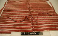 Length of compound cloth made up as an apron
