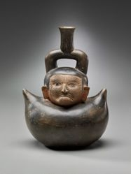 Stirrup Vessel with Wrinkled Face