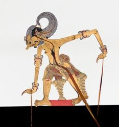 Shadow Puppet (Wayang Kulit) of Bima, from the consecrated set Kyai Nugroho