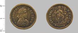 Solidus of Honorius, Flavius, Emperor of Rome from Mediolanum
