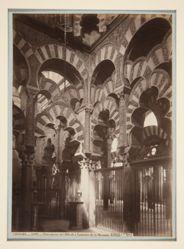 Vista interior del Mihrab o Santuario de la Mezquita