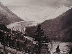 Morteratsch Glacier and Bernina Mountains