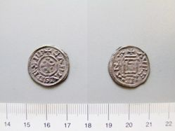 Silver denier of Charles II from Orleans