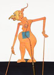 Shadow Puppet (Wayang Kulit) of Petruk, Lala, or Laa-Laa