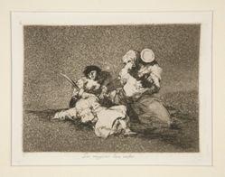 Las mugeres [sic] dan valor (The Women Give Courage), pl. 4 from Los desastres de la guerra (The Disasters of War)