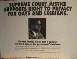 Supreme Court Justice supports right to privacy for gays and lesbians, from the Guerrilla Girls' Compleat 1985-2008