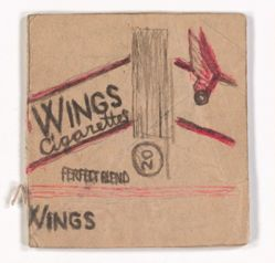 James Castle, Untitled [WINGS Cigarettes]