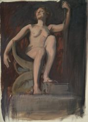 """Study for the figure of The Genius of Pennsylvania in """"The Apotheosis of Pennsylvania,"""" mural for the state capitol building in Harrisburg, Pennsylvania, 1902-1911"""