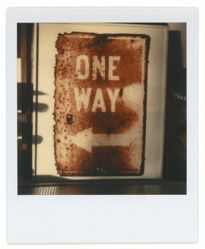 "Untitled [Framed Sign: ""One Way""]"