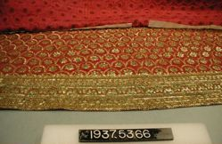 Floor cloth of silk, trimmed with tinsel