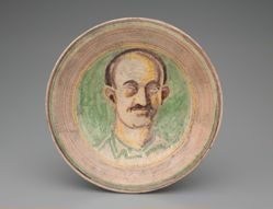 Plate with Portrait of Ben Hecht