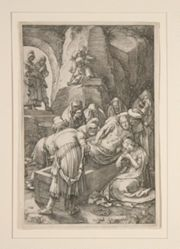 Burial of Christ (The Entombment), from The Passion, #11 in a series of 12 engravings