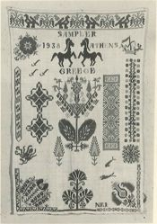 Sampler of stitches and designs from the Greek Islands