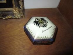 Hexagonal pin box with black heraldic Prussian Eagle