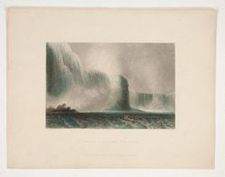 Niagara Falls from the Ferry, illustration for Nathaniel Parker Willis's book American Scenery