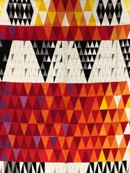 "Length of Fabric, ""Pythagoras"" Pattern"
