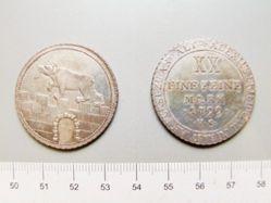 2/3 Thaller of Alexius Friedrich Christian, Duke of Anhalt Bernburg from Anhalt Bernburg