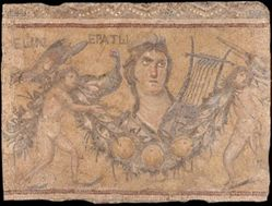 Mosaic Fragment with a Bust of Erato