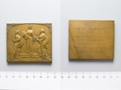 Bronze Plaquette from Belgium of the 1911 Exhibitions at Turin and Roubaix